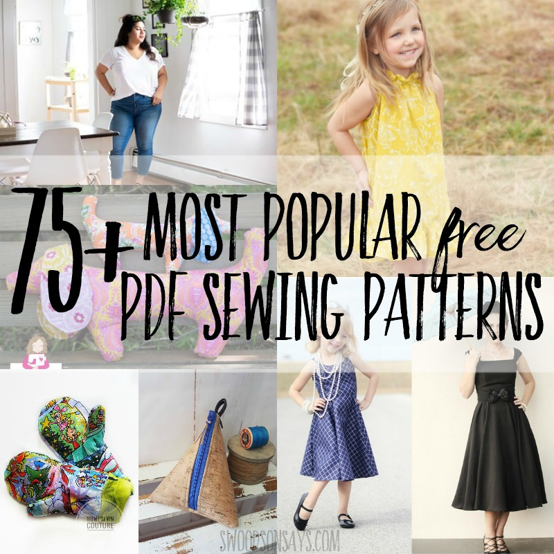 75+ most popular free PDF sewing patterns